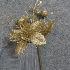 Золотистое декоративное украшение Новогоднее