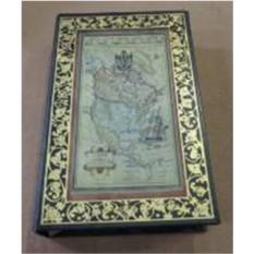 Шкатулка-фолиант Старинная карта