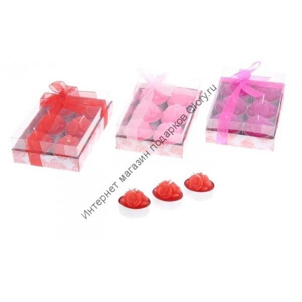 Восковые плавающие свечи Розовый куст