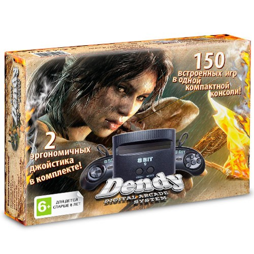 Приставка Dendy Tomb Raider + 150 игр