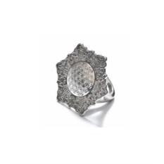 Серебряное кольцо Цветок жизни (27 мм)