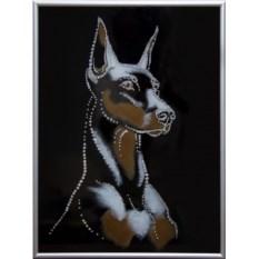 Картина Swarovski Символ года. Доберман