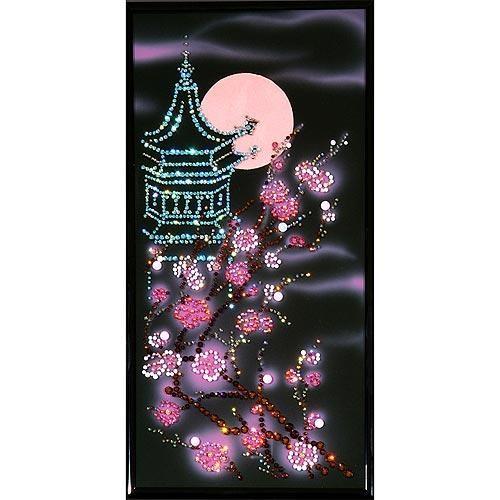 Настенное панно Пагода с сакурой