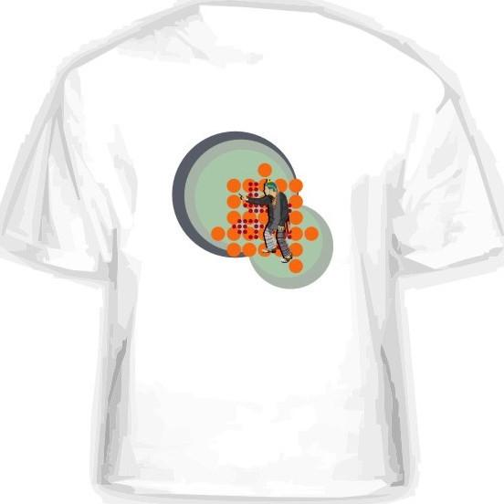 Прикольная футболка «Круги»