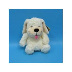 Собака кремовая сидячая 30 см