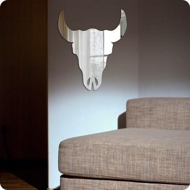 Фигурное зеркало Череп быка