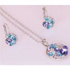 Комплект с фиолетовыми кристаллами Сваровски Конфетти