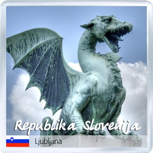 Магнит: Словения. Дракон, охраняющий мост