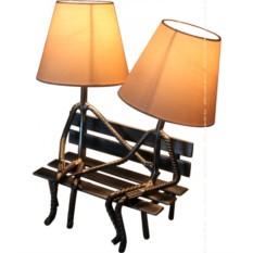Настольная лампа Абажур. На лавке