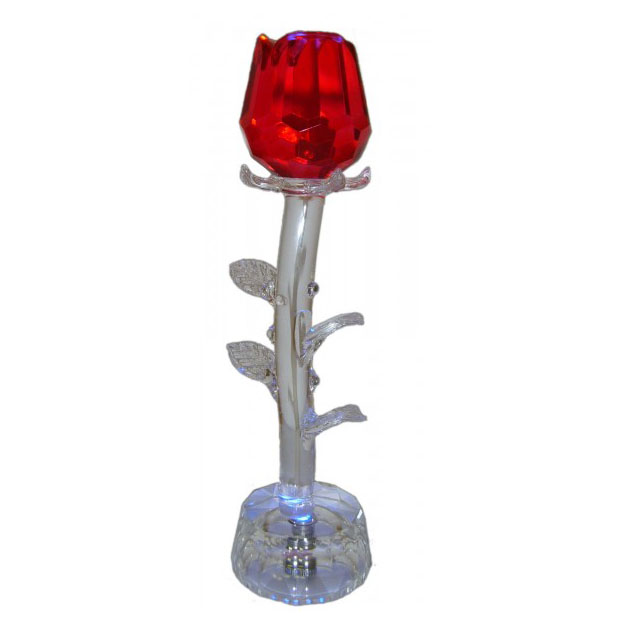 Хрустальный цветок с подсветкой