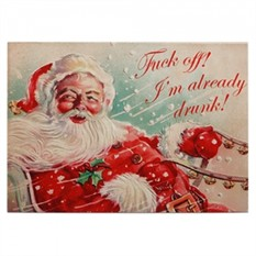 Новогодняя открытка Drunk