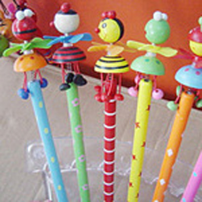 Карандаш детский с фигурками на пружине 6 цветов
