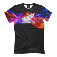 Черная мужская футболка Honda