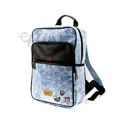 Джинсовый рюкзак Western Badge – Holes Light Blue