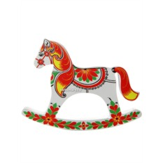 Лошадка-качалка с ручной художественной росписью