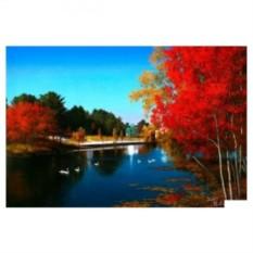 Картина-раскраска по номерам на холсте Осенняя река