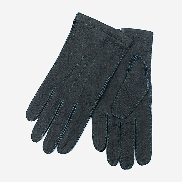 Зеленые перчатки Merola из пеккари без подкладки