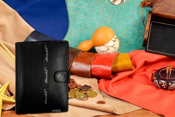 Чёрное кожаное портмоне из коллекции Barkli