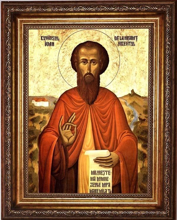 Икона на холсте Иоанн Хозевит Преподобный