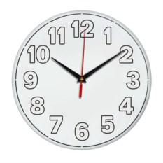 Настенные часы с белыми цифрами