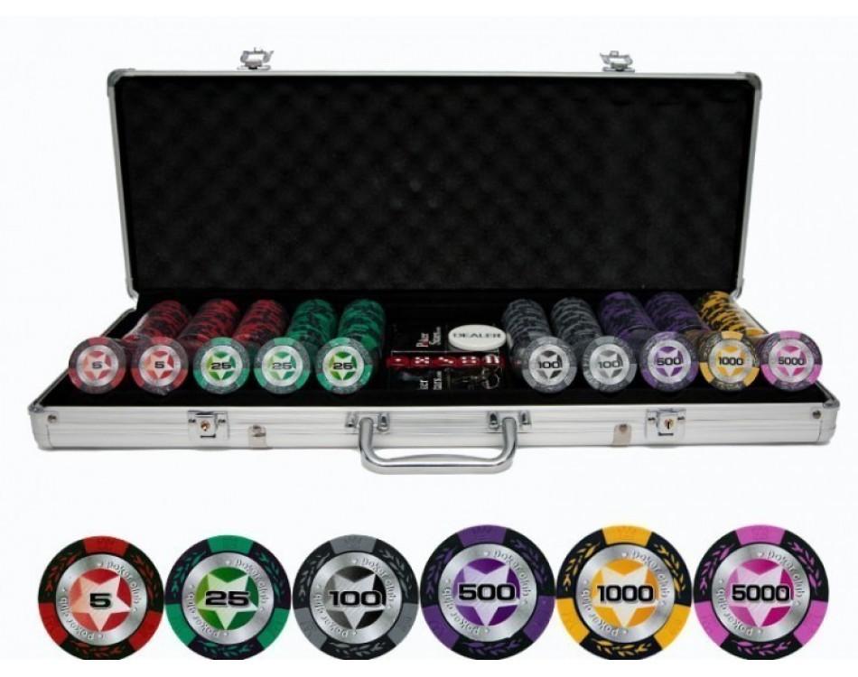 Набор для покера Black Stars на 500 фишек Lite