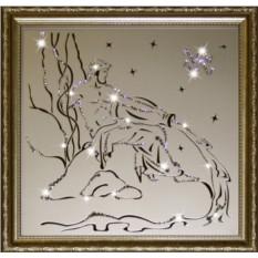 Картина с кристаллами Сваровски Водолей
