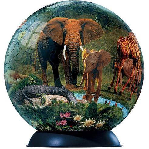 Шаровый пазл «Жизнь джунглей»