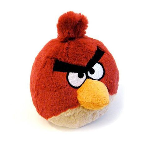 Мягкая игрушка Angry Birds красная птичка
