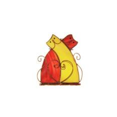 Подсвечник «Парочка котов»