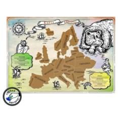 Стирающаяся карта Европы