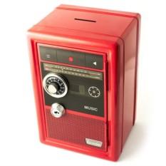 Копилка-сейф с ключом в виде ретро радио