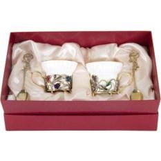 Чайная пара Колокольчики и Ирисы в коробке
