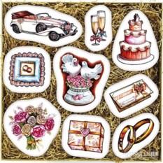 Большой набор печенья Свадебный