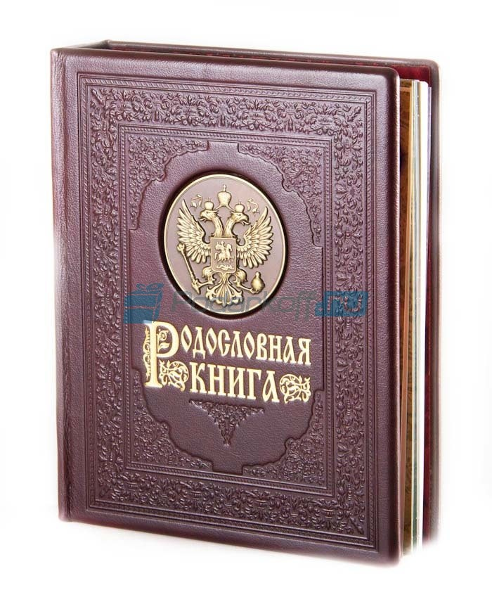 Родословная книга Гербовая с литьем, в обложке из кожи