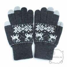 Темно-серые перчатки для сенсорного экрана iGlove