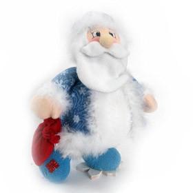 Дед мороз с мешком на снежинке,