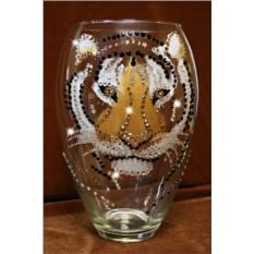 Ваза с кристаллами Swarovski Тигр