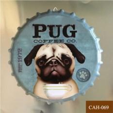 Декоративная пивная крышка Pug