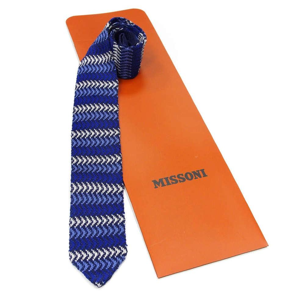 Полосатый вязаный галстук Missoni 8ZAFAZ