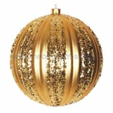 Елочная игрушка Шар золотого цвета