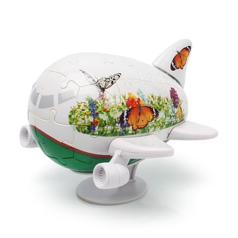 3D Пазл Самолетик Бабочки (40 деталей)