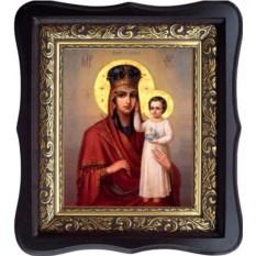 Икона Божьей Матери на холсте Призри На Смирение