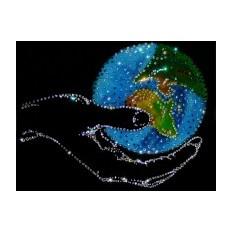 Картина Swarovski Мир в руке