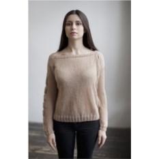 Широкий бежевый свитер Косы