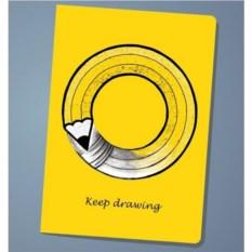 Обложка на паспорт Keep drawing