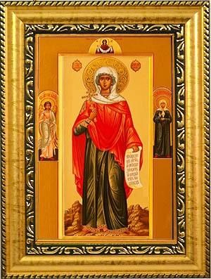 Мученица Анисия Солунская. Икона на холсте.