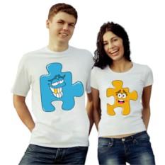 Парные футболки Пазл