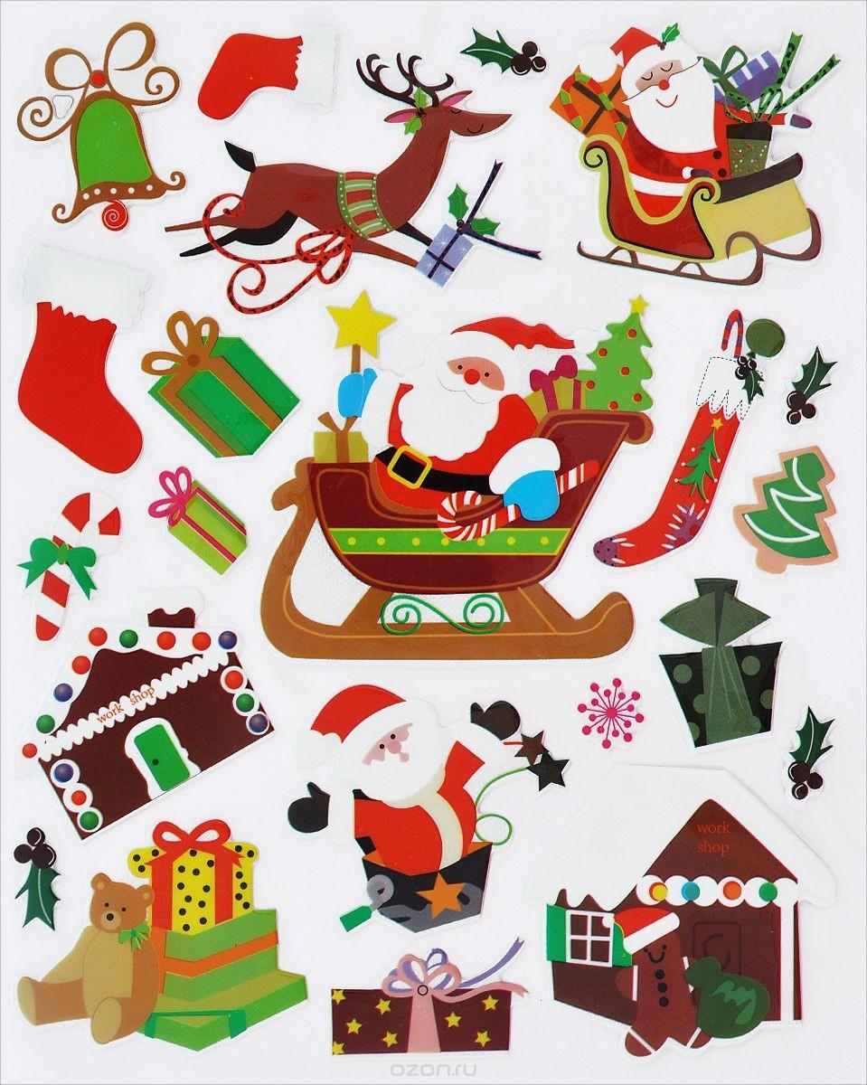 Декоративные объемные наклейки EuroHouse Рождество
