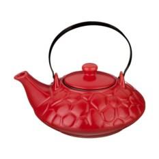 Красный заварочный чайник, объем 800 мл