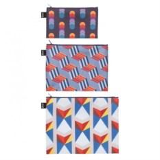 Набор из 3 косметичек Loqi zip pockets Geometric